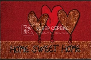 Коврик для дома wash+dry Home Heartz 50x75